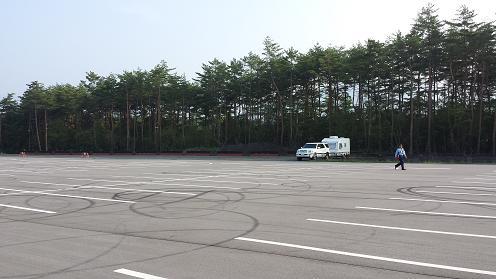 北麓駐車場キャンピングカー