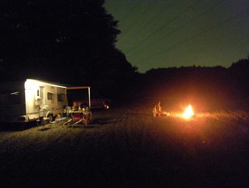 夏の焚き火