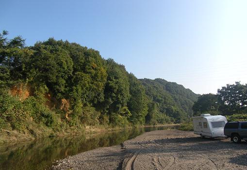 じゃりんこ河原の朝