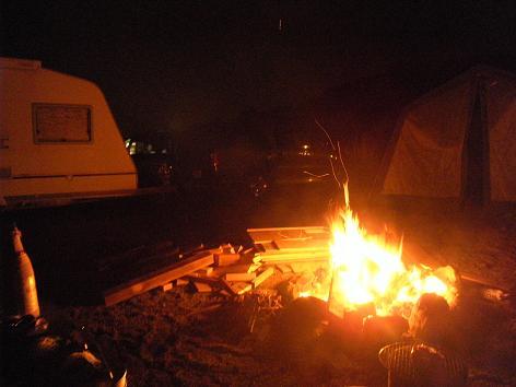 カワセミで焚き火
