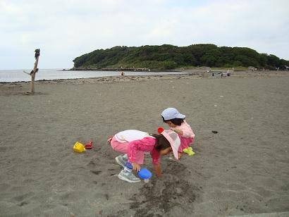 秋の海水浴場